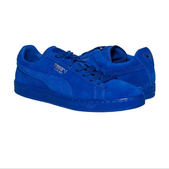 best website 0a1eb dffc8 Puma classic suede ICED in royal blue
